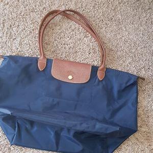 Longchamp le pliage blue tote